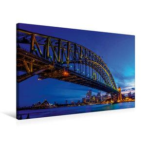 Premium Textil-Leinwand 75 cm x 50 cm quer Coat Hanger - Sydney