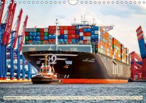 Containerschiffe auf der Elbe (Wandkalender 2018 DIN A4 quer)