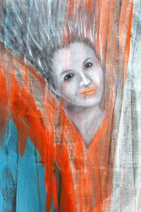Premium Textil-Leinwand 30 cm x 45 cm hoch Gefallener Engel