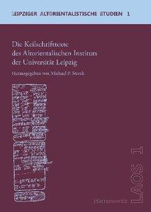 Die Keilschrifttexte des Altorientalischen Instituts der Univers