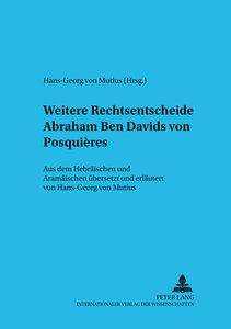 Weitere Rechtsentscheide Abraham Ben Davids Von Posquieres: Aus