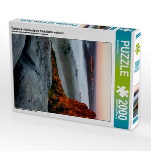 CALVENDO Puzzle Tafelblick - Nationalpark Sächsische schweiz 200