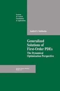 Generalized Solutions of First Order PDEs