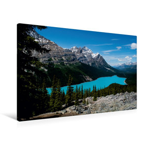 Premium Textil-Leinwand 90 cm x 60 cm quer Peyto Lake