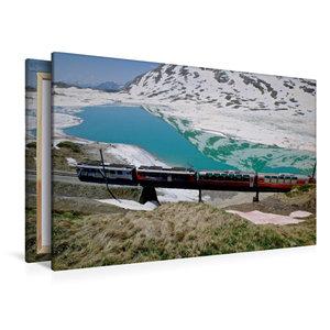 Premium Textil-Leinwand 120 cm x 80 cm quer Lago Bianco Stausee