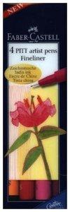 Tuschestift PITT artist pen S warm colour 4er Etui
