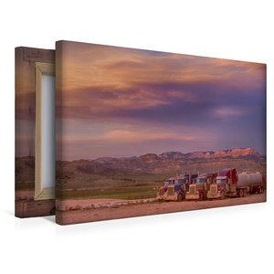 Premium Textil-Leinwand 45 cm x 30 cm quer Sonnenuntergang auf d