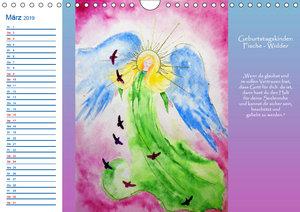 Engelhafter Geburtstagskalender (Wandkalender 2019 DIN A4 quer)