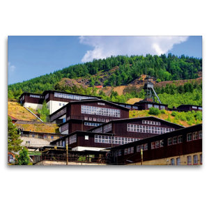 Premium Textil-Leinwand 120 cm x 80 cm quer Besucherbergwerk Ram