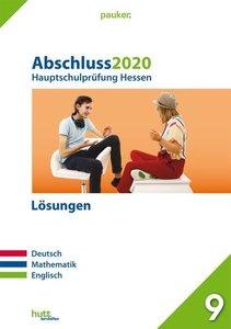 Abschluss 2020 - Hauptschulprüfung Hessen - Lösungen