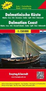 Dalmatinische Küste 1 : 150 000. Autokarte