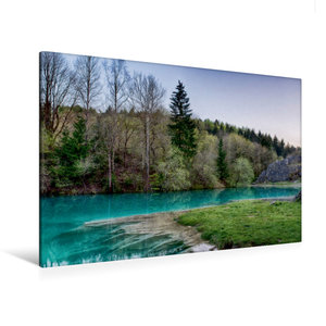 Premium Textil-Leinwand 120 cm x 80 cm quer Der blaue See