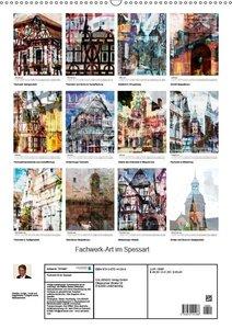 Fachwerk-Art im Spessart (Wandkalender 2019 DIN A2 hoch)