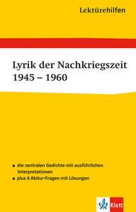 Lektürehilfen Lyrik der Nachkriegszeit 1945 - 1960