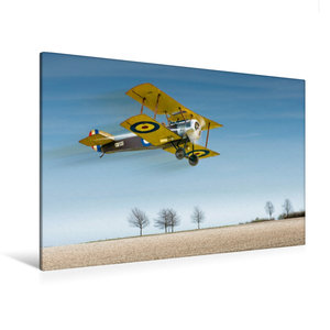 Premium Textil-Leinwand 120 cm x 80 cm quer Modellflugzeug in Ak
