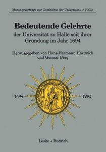 Bedeutende Gelehrte der Universität zu Halle seit ihrer Gründung