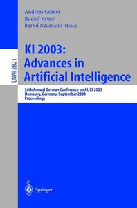 KI 2003: Advances in Artificial Intelligence