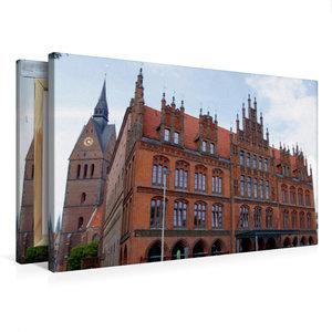 Premium Textil-Leinwand 75 cm x 50 cm quer Altes Rathaus vor der