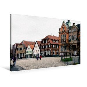 Premium Textil-Leinwand 90 cm x 60 cm quer Historischer Marktpla