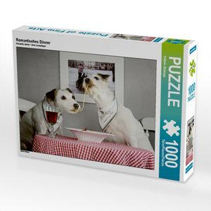 Romantisches Dinner 1000 Teile Puzzle quer