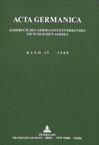 Acta Germanica. Bd. 19, 1988
