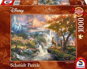 Schmidt 59486 - Disney Bambi, Thomas Kinkade, 1000 Teile, Premiu