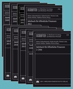 Jahrbuch für öffentliche Finanzen 2009-2016/17 Bde.