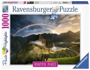 Regenbogen über Machu Picchu, Peru (Puzzle)