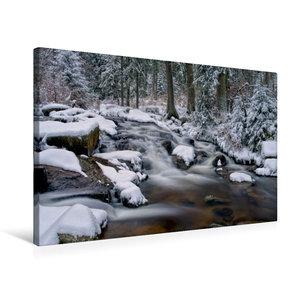 Premium Textil-Leinwand 75 cm x 50 cm quer Bodewasserfall