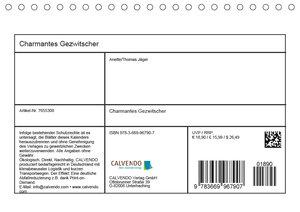 Charmantes Gezwitscher (Tischkalender 2019 DIN A5 quer)