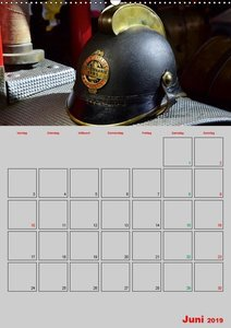 Alte Feuerwehrhelme - Terminplaner (Wandkalender 2019 DIN A2 hoc