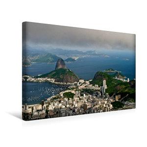 Premium Textil-Leinwand 45 cm x 30 cm quer Rio de Janeiro, Brasi