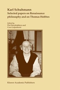 Selected papers on Renaissance philosophy and on Thomas Hobbes
