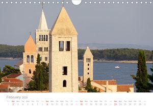 Adriatic Coast Croatia / UK-Version (Wall Calendar 2020 DIN A4 L