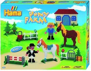 Hama 3136 - Geschenkpackung Ponyhof, 2x Stiftplatten Nr. 206+306