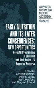 Early Nutrition and its Later Consequences: New Opportunities