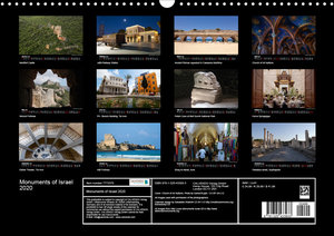 Monuments of Israel 2020 (Wall Calendar 2020 DIN A3 Landscape)