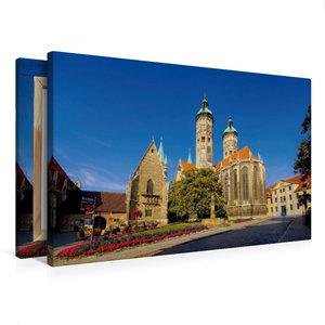 Premium Textil-Leinwand 75 cm x 50 cm quer Naumburger Dom