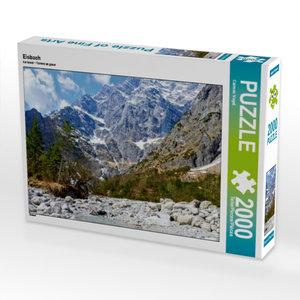 CALVENDO Puzzle Eisbach 2000 Teile Lege-Größe 90 x 67 cm Foto-Pu