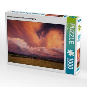 CALVENDO Puzzle Abziehendes Gewitter im Sonnenuntergang 1000 Tei
