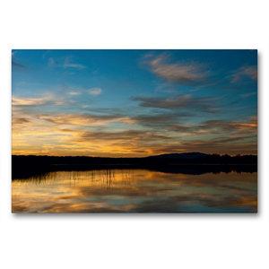 Premium Textil-Leinwand 90 cm x 60 cm quer Reflections