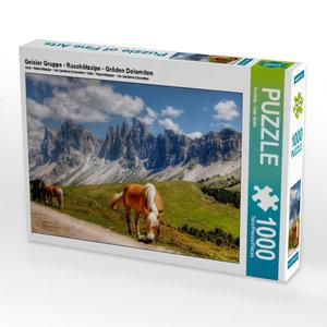 Geisler Gruppe - Raschötzalpe - Gröden Dolomiten 1000 Teile Puzz