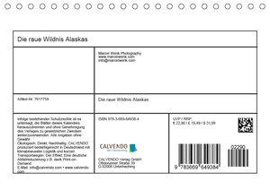 Die raue Wildnis Alaskas (Tischkalender 2019 DIN A5 quer)