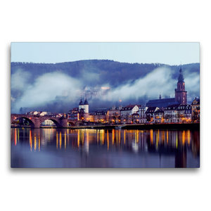 Premium Textil-Leinwand 75 cm x 50 cm quer Heidelberg - Altstadt