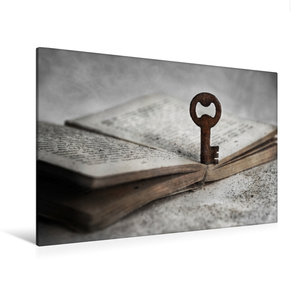 Premium Textil-Leinwand 120 cm x 80 cm quer Der Schlüssel zur We