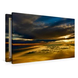Premium Textil-Leinwand 90 cm x 60 cm quer Sonnenuntergang über