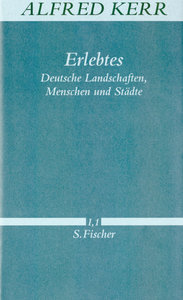 Erlebtes. Deutsche Landschaften, Menschen und Städte