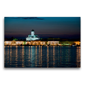 Premium Textil-Leinwand 75 cm x 50 cm quer Helsinki