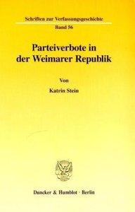 Parteiverbote in der Weimarer Republik.