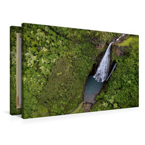 Premium Textil-Leinwand 90 cm x 60 cm quer Jurassic Falls